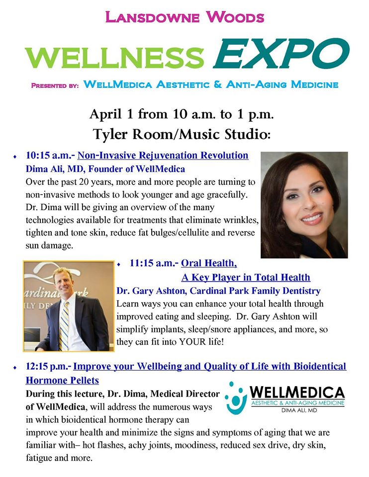 Lansdowne of the Woods Wellness Expo 2017 Dr. Dima Seminar Reston