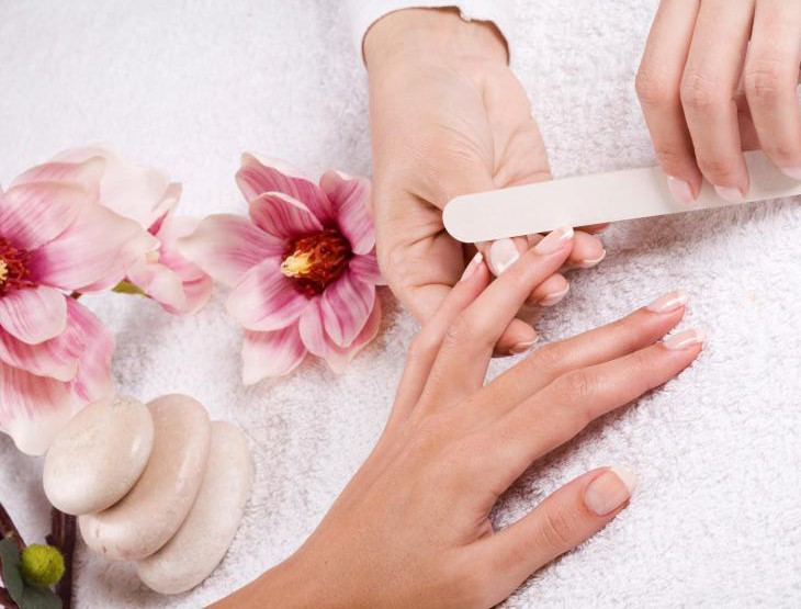 prevent aging hands by receiving a manicure