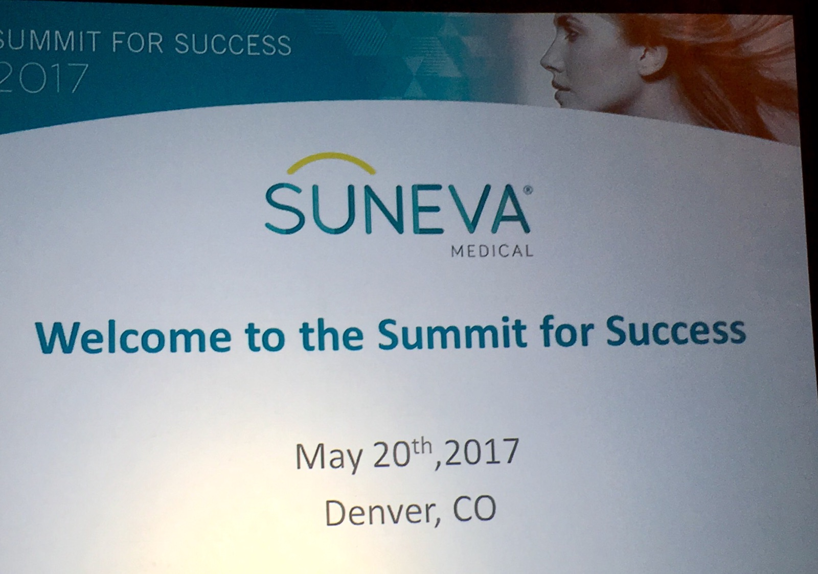 Suneva Summit for Success poster