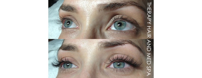 Individual Eyelash Extensions Before and After in Reston VA Great Falls Ashburn Dima Ali