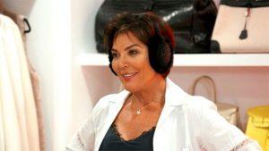 Kris Jenner Earlobes wearing Ear Muffs