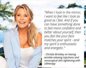 Christie Brinkley gets Ultherapy Treatment for Neck tightening